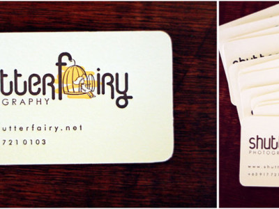 Shutterfairy's new business card