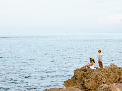 Pearl Harbor inspired engagement session:  Eric + Godday
