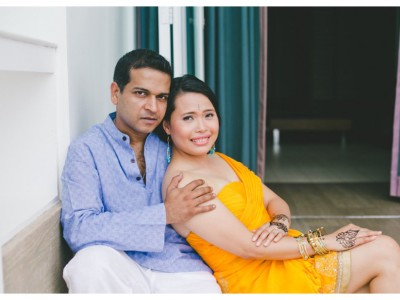 Indian inspired engagement session:  Dee & Cha